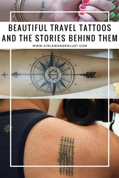 Beautiful travel tattoos and the stories behind them! via @girlswanderlust #traveltattoo #tattoo #tattoos #travel #wanderlust #girlswanderlust #travelinspiration #reizen #traveling #reis