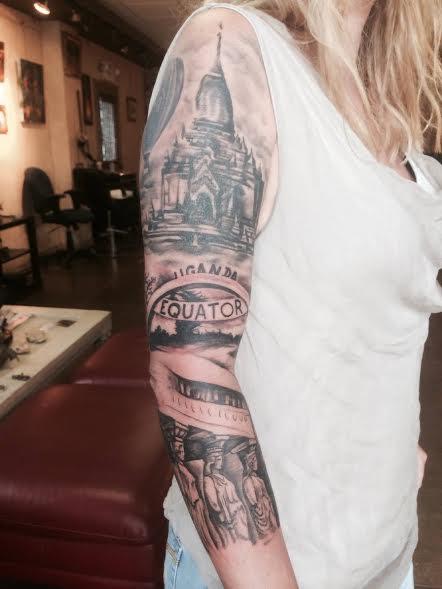 Travel tatoo - leslie