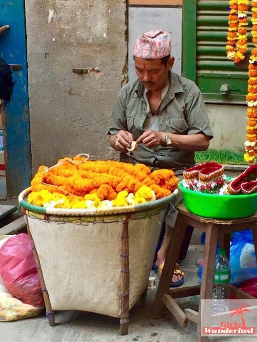 market Kathmandu flowers
