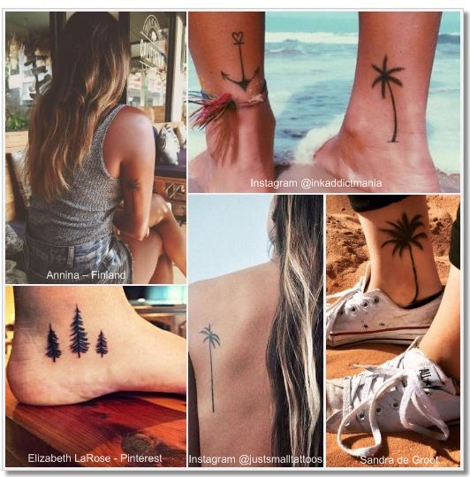 100 Amazing- and inspirational travel tattoos! Trees Collage 2 #trees #tree #travel #tattoo #traveltattoo #girlswanderlust #wanderlust