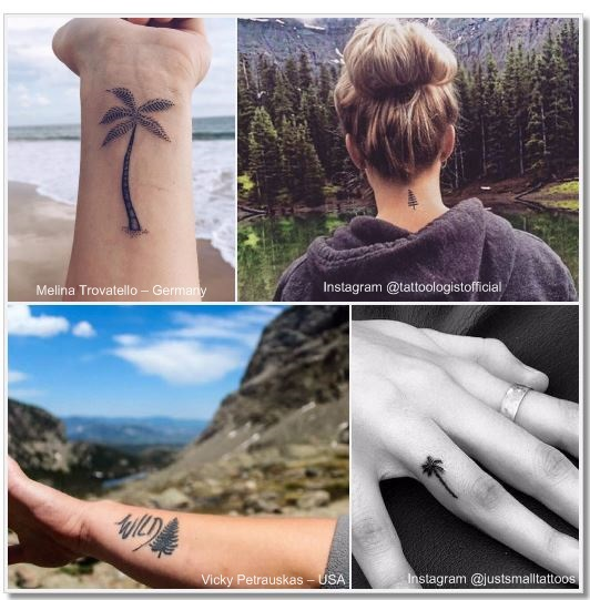 100 Amazing- and inspirational travel tattoos! Trees Collage #trees #tree #travel #tattoo #traveltattoo #girlswanderlust #wanderlust