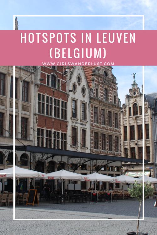 Hotspots in Leuven (Belgium)