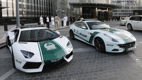 Dubai Police luxurious cars