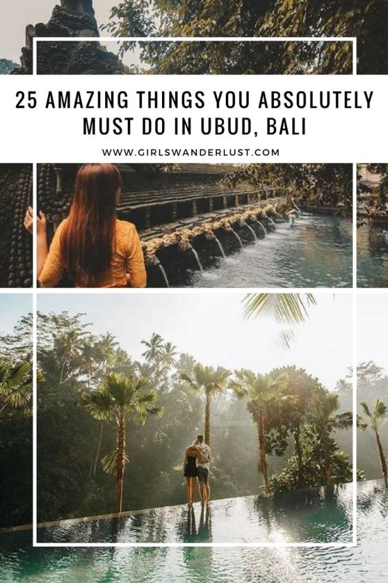 25 Amazing things you absolutely must do in Ubud, Bali by @girlswanderlust #pin #girlswanderlust #bali #indonesia #ubud #campuhan #ridge #walk #indonesie #balibible #junglefish #pura