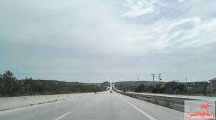 The roads in the region of Thessaloniki